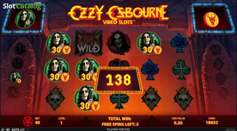 Ein Screenshot vom Oozy Osbourne Spielautomat